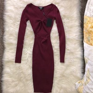 NWT Forever 21 Sweater Bodycon with cutouts
